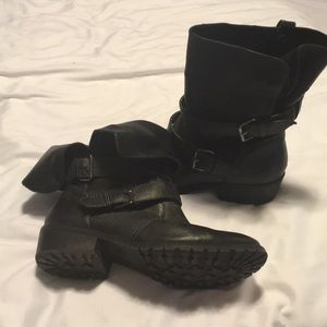 Ankle moto boots